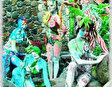 Фестиваль цветной глины в Мамбукале