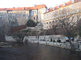 Крепость над Влтавой в Чешском Крумлове