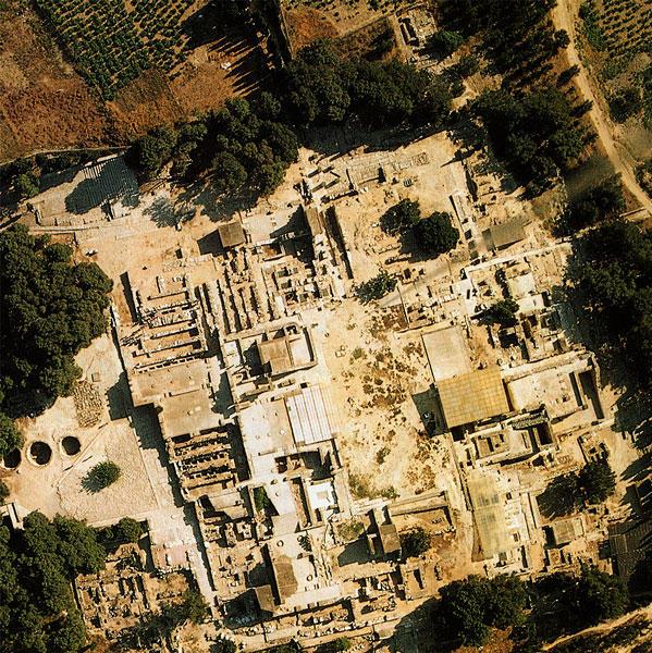 The Palace of Knossos - аэроснимок
