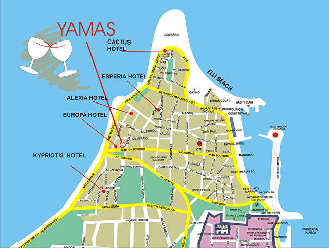 YAMAS -место расположения на карте