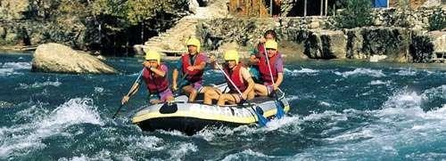 Rafting in the Dalaman Stream