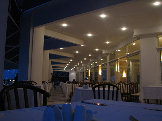Hotel Mavi Kumsal, Турция (фрагмент ресторана, ночью)