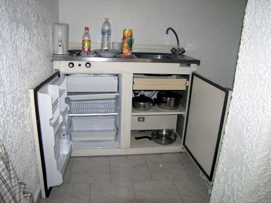 Кухня - холодильник с плитой